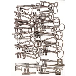 A collection of 50 German iron keys, 18th/19th century