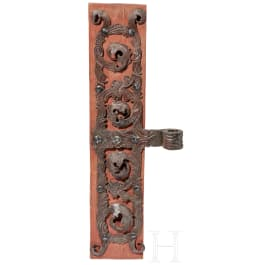 A German hinge mount of a large protal, 18th century