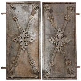 A pair of German wrought iron shutters, 1st half of the 18th century