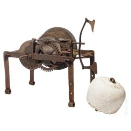 An Italian roasting spit turning mechanism (rotisserie), 17th/18th century