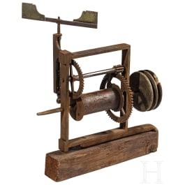 An Italian roasting spit turning mechanism (rotisserie), circa 1800