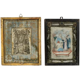 Two southern German devotional images, 18th century