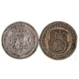 Two eastern European gild seals, 17th/18th century