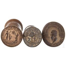 Three German seals, 17th/18th century