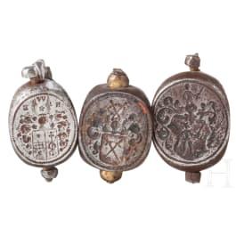 Three German fob seals, 1st half of the 18th century