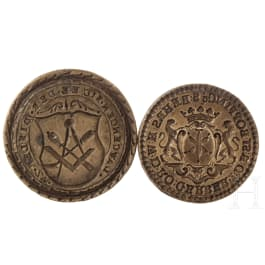 Two German guild seals, 18th century