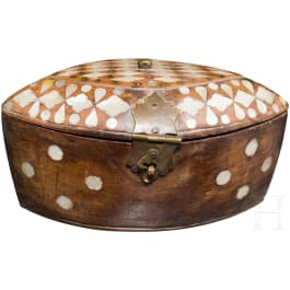 A mother-of-pearl inlaid box, Ottoman, 19th century