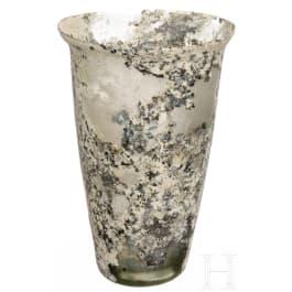 A Romano-Frankish glass beaker, 5th-6th century