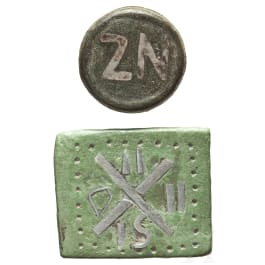 Two Byzantine weights, 6th - 10th century