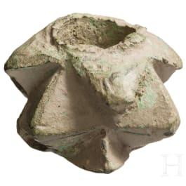 A mace head, 13th/14th century