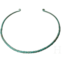 A Late Bronze Age torc from Central Europe, 12th-11th century B.C.