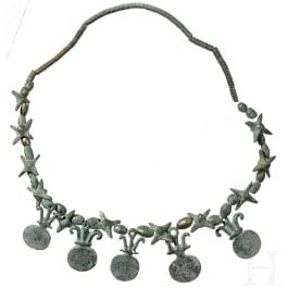 An Hallstatt Era necklace, Hunsrück-Eifel culture, 7th-6th century B.C.
