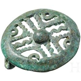 Early Slavic disc fibula, Kiev Culture, 4th century