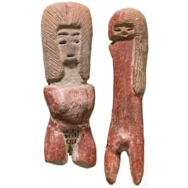 A pair of Ecuadorian Valdivia figures, circa 2500 – 2000 B.C.
