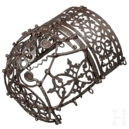 A German iron horse muzzle, dated 1562