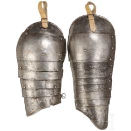 Zwei Oberarmzeuge, deutsch, um 1600