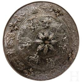Getriebener Rundschild, Sammleranfertigung im Stil der Renaissance