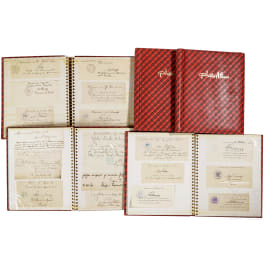 A large group of autographs from the Kingdom of Hanover to the Reichswehr, from 1863-1935