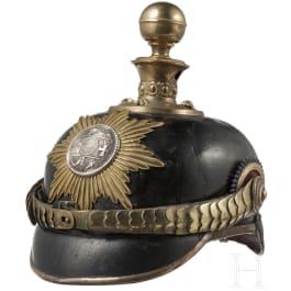 A helmet for officers of the Field Artillery Regiment 24, 3rd Battery, circa 1900