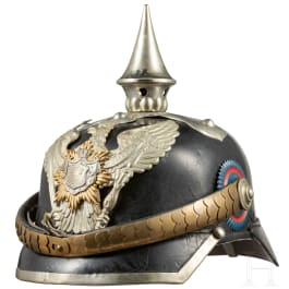A helmet for a sergeant from the Oldenburgian Dragoon Regiment No. 19