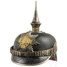 Helm für Reserveoffiziere im Königlich Sächsischen 1. Leib-Grenadier-Regiment Nr. 100, um 1915
