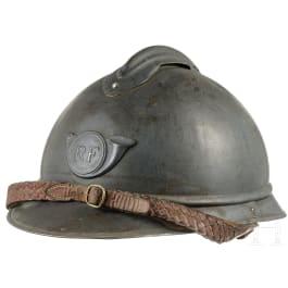 Stahlhelm M 15 Adrian für Chasseure, Frankreich, um 1915 - 1918