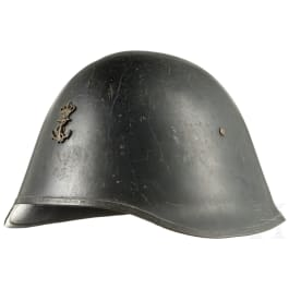 A navy steel helmet M 41, Denmark, 1941 - 1945