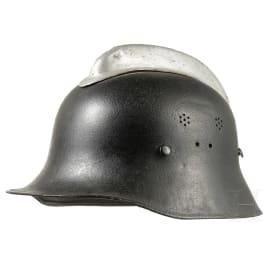 A German steel helmet with aluminium comb, fire brigade, mid-20th century