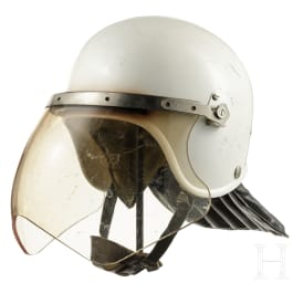 An anti-demo helmet (VoPo) with protective visor, GDR, late 1980s