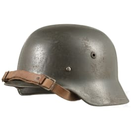 A Danish steel helmet M 35 (German), Civil Defence, after 1945