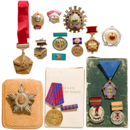Awards of communist ruled countries, mid-20th century