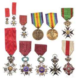 Eleven awards, 19th/20th century