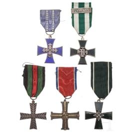 Five awards, 20th century