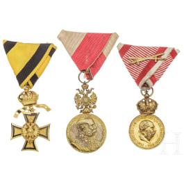 Three Austrian military medals