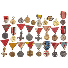 A small lot of mostly Austrian medals