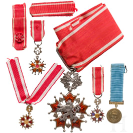 Czech Republic - a group of awards of the Order of the White Lion