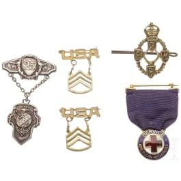 Five badges, 20th century