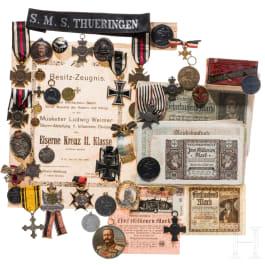 A large group of German awards, mainly World War I, varia