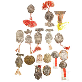 A collection of 18 gymnast badges, 1898 - 1928