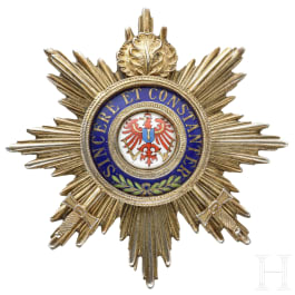 Prussia - a breast star of the Grand Cross of the Order of the Red Eagle with oakleaves and swords