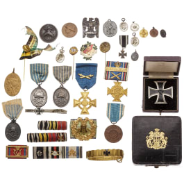 A small group of medals