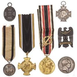 Seven awards, 19th/20th century