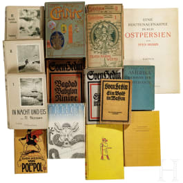 A large mixed lot of books by Sven Hedin and Fridtjof Nansen, circa 1900