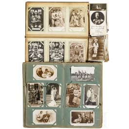 Mixed lot of more than 400 postcards of mostly German nobility, in two albums and in bulk