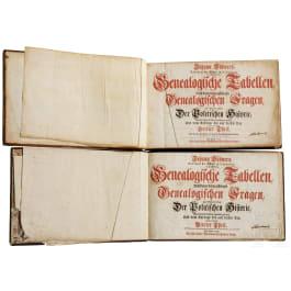 "Hübner, Johann: ""Genealogical Tables"" (transl.), volumes 3 + 4, 1728/1733"