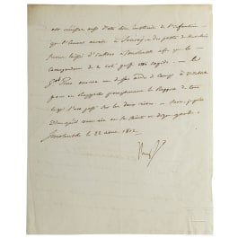 Napoleon I - a letter signed by his own hand, Smolensk, 22.8.1812