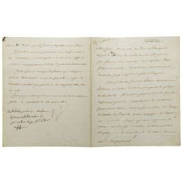 Napoleon I - a letter signed by his own hand, Smolensk, 24.8.1812