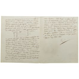 Napoleon - a letter signed by his own hand, Moscow, 5.10.1812
