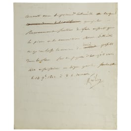 Napoleon I - a letter signed by his own hand, Smolensk, 14.11.1812 at 8 o'clock in the morning