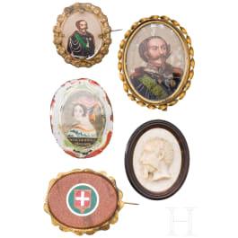 Five medallions, 19th/ 20th century